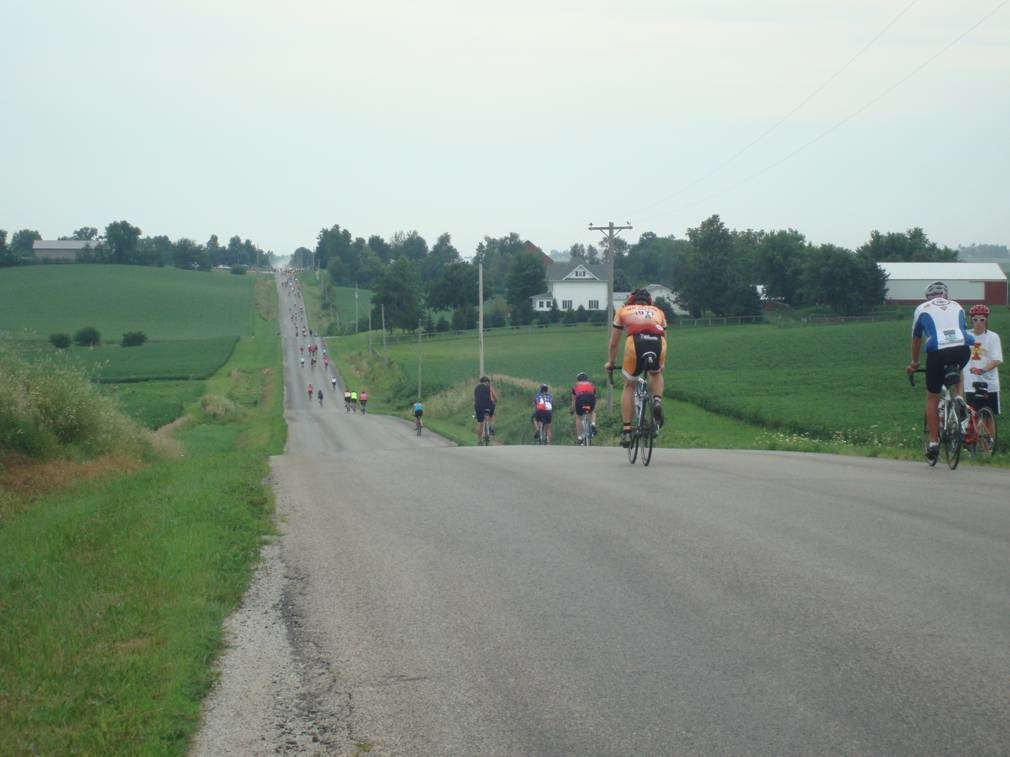Jim and Liz Carlson Riding Across Iowa